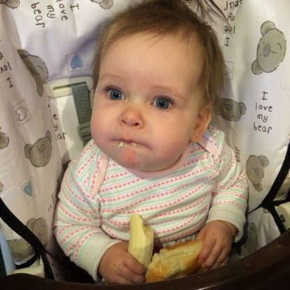 Bułka z bananem :)
